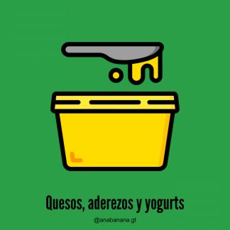 Quesos, aderezos y yogurts
