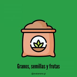 Granos, semillas y frutas