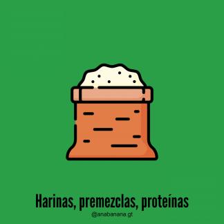 Harinas, premezclas, proteínas